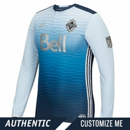 Vancouver Whitecaps FC adidas 'Sea to Sky' Authentic Custom Player Long Sleeve Secondary Jersey - Blue <br><b><i>Choose a player or Customize your jersey!</i></b>