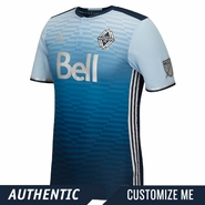 <b><i>Become a 'Caps Club Member Today! </i></b><br>Vancouver Whitecaps FC adidas 'Sea to Sky' Authentic Custom Player Short Sleeve Secondary Jersey - Blue