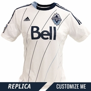Vancouver Whitecaps FC adidas Women's Replica Custom Player Short Sleeve Primary Jersey - White/Deep Sea - <b><i>Choose a player or Customize your jersey!</i></b><br><b><i>THIS WEEKEND THROUGH MONDAY ONLY: ANY NAME, ANY NUMBER<br>Free personalization with any adult jersey - </i><font color=red>A $25 VALUE!</b></font>