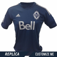 Vancouver Whitecaps FC adidas Women's 2014 Replica Custom Player Short Sleeve Alternate Jersey - Deep Sea/Silver<br><b><i>Choose a player or Customize your jersey!</i></b>