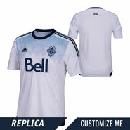 Vancouver Whitecaps FC adidas 2015 Replica Custom Player Short Sleeve Primary Jersey - White <br><b><i>Choose a player or Customize your jersey!</i></b>