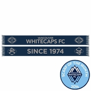 Vancouver Whitecaps FC Ruffneck 40th Anniversary Scarf - Navy/Silver<br><b><i>Exclusive Scarf of the Month: April 2014</i></b>