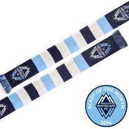 Vancouver Whitecaps FC Ruffneck Blocks of Blue Scarf - White/Blue<br><b><i>Exclusive Scarf of the Month: August 2014</i></b>