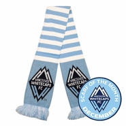 Vancouver Whitecaps FC Sky Blue Lines Scarf - White/Light Blue <br><b><i>Exclusive Scarf of the Month: December 2014</i></b>