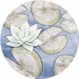 Blue Lotus Melamine Dinner Plate