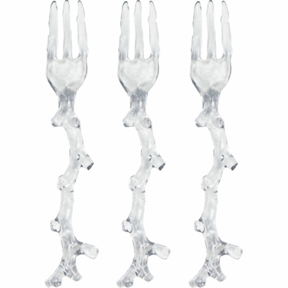 Clear Coral Mini Forks