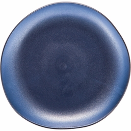Pebble Blue Plastic Luncheon Plate