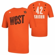 Phoenix Mercury adidas 2013 WNBA Western All-Star Brittney Griner Name & Number Tee - Orange