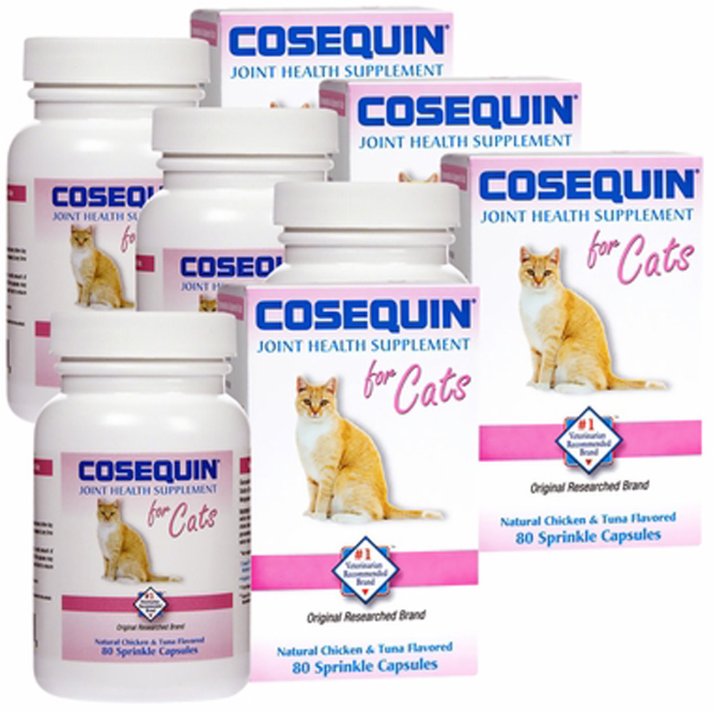 4 pack cosequin for cats 80 count 320 capsules. Black Bedroom Furniture Sets. Home Design Ideas