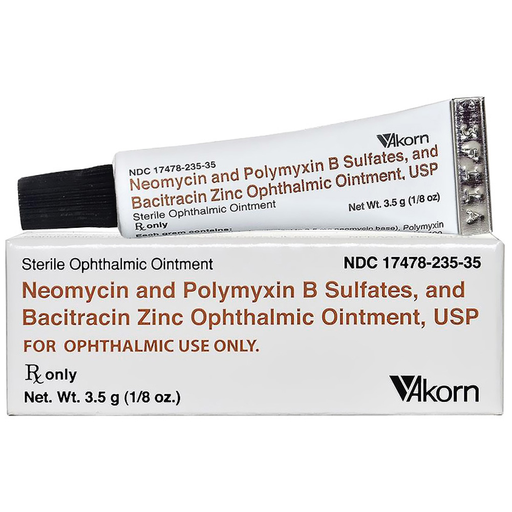 AKORN NeoPoly Bac Ophthalmic Ointment 3.5gm (Manufacture may vary)