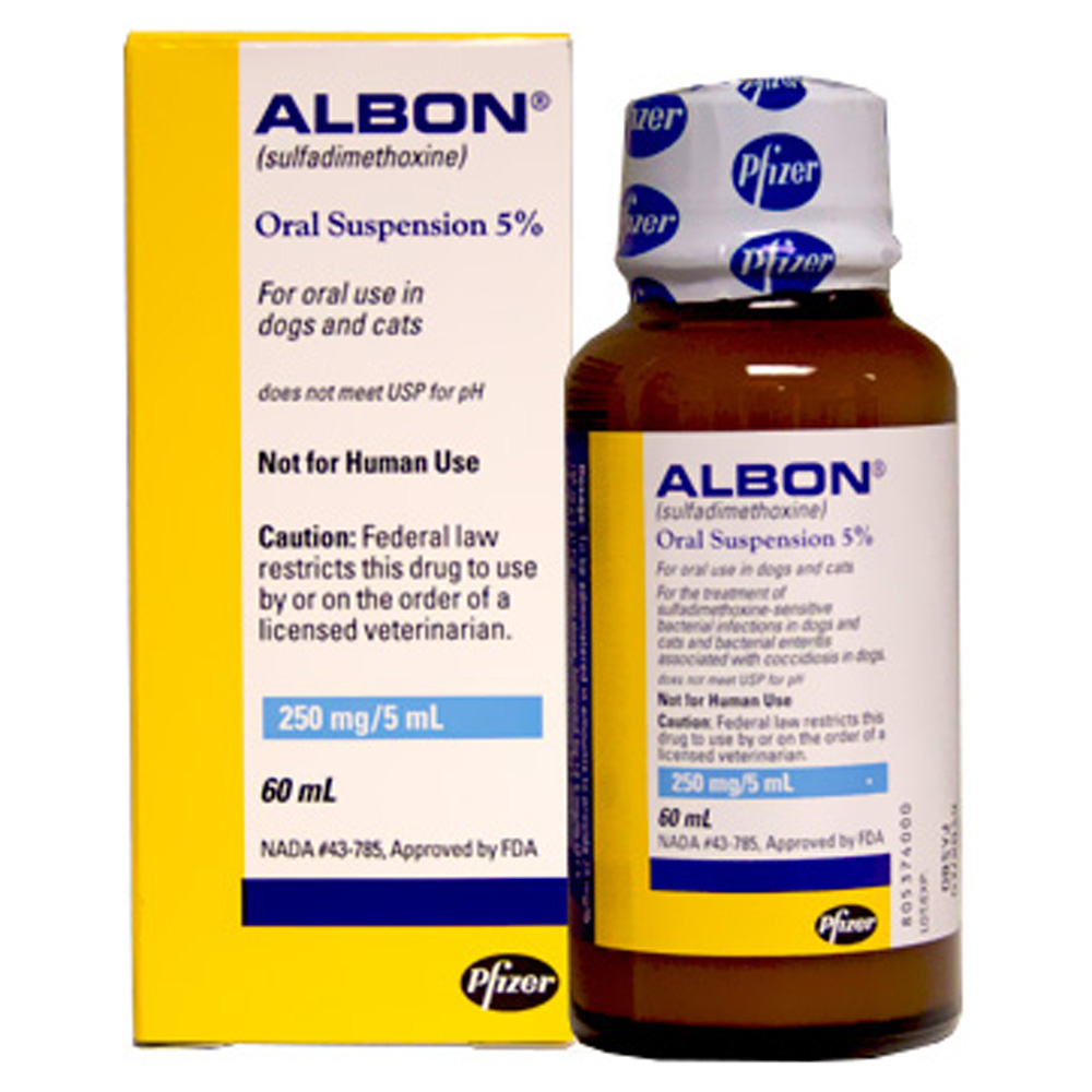 Albon Oral Suspension 5 250mg 5ml 60ml