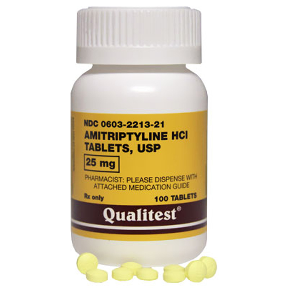 Amitriptyline 25 mg (100 Tabs) (Manufacture may vary)