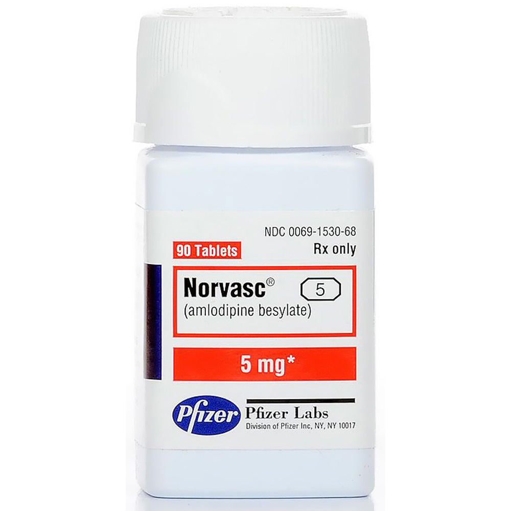 Norvasc 5mg (per tabs) (Manufacture may vary)