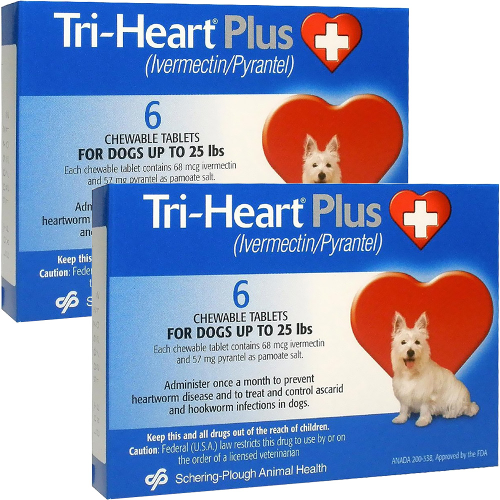 Tri-Heart Plus for Dogs Up to 25 Lbs (12 Mnth)