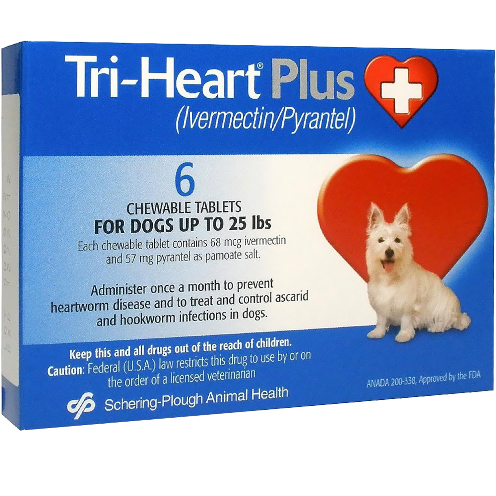 Tri-Heart Plus for Dogs Up to 25 Lbs (6 Mnth)