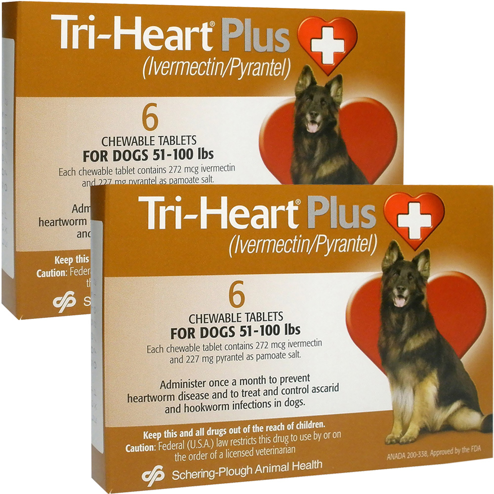 Tri-Heart Plus for Dogs 51 - 100 Lbs (12 Mnth)