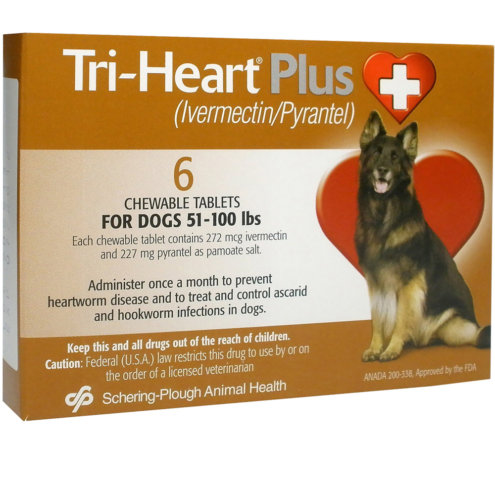 Tri-Heart Plus for Dogs 51 - 100 Lbs (6 Mnth)