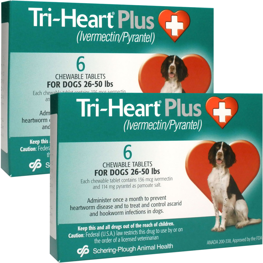 Tri-Heart Plus for Dogs 26 - 50 Lbs (12 Mnth)