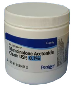 can triamcinolone acetonide cream be used on dogs