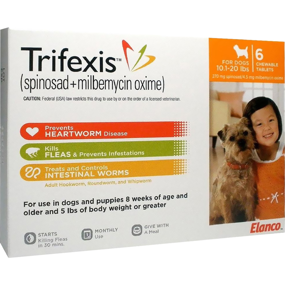 Trifexis For Dogs 10.1-20 Lbs (6 Mnth)