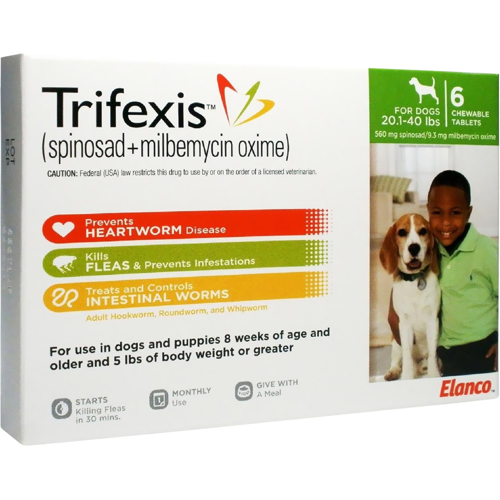Trifexis For Dogs 20.1-40 Lbs (6 Mnth)