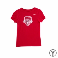 Girls Nike Washington Spirit Crest Tee - Red