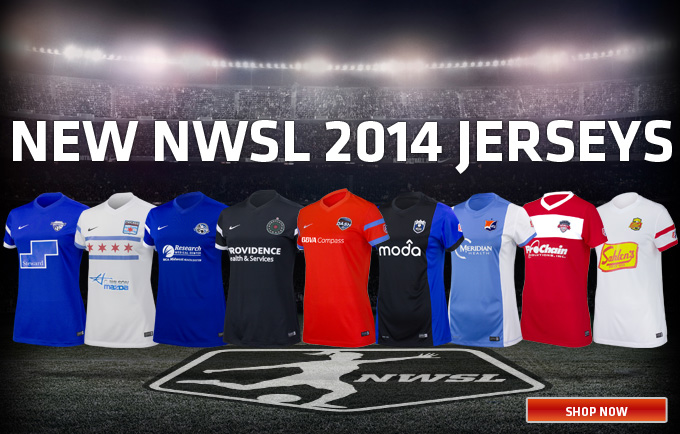 Order the new NWSL 2014 Jerseys today!