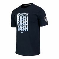 Men's Houston Dash Chevron Crew Cotton Tee - Black