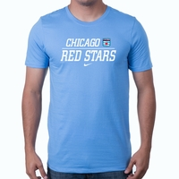 Men's Nike Chicago Red Stars Split Tee - Sky Blue