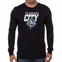 Men's Nike FC Kansas City LS Bold Tee - Black