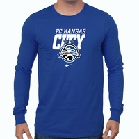 Men's Nike FC Kansas City LS Bold Tee - Game Royal
