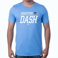 Men's Nike Houston Dash Split Tee - Light Blue