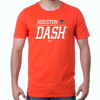 Men's Nike Houston Dash Split Tee - Orange