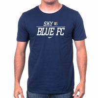 Men's Nike Sky Blue FC Split Tee - Navy