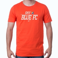 Men's Nike Sky Blue FC Split Tee - Orange