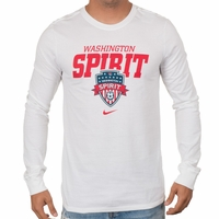 Men's Nike Washington Spirit LS Bold Tee - White