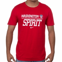 Men's Nike Washington Spirit Split Tee - Red