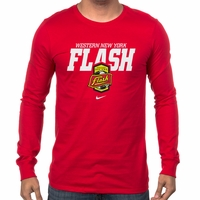 Men's Nike Western NY Flash LS Bold Tee - Red