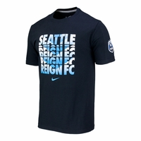 Men's Seattle Reign FC Chevron Crew Cotton Tee - Black
