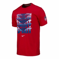 Men's Washington Spirit Chevron Crew Cotton Tee - Red