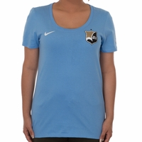 Nike Sky Blue FC Gold Team Tee - Baby Blue