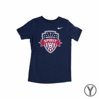 Preschool Nike Washington Spirit Crest Tee - Navy