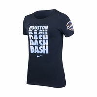 Women's Houston Dash Chevron Crew Cotton Tee - Black