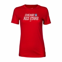 Women's Nike Chicago Red Stars Split Tee - Red