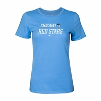Women's Nike Chicago Red Stars Split Tee - Sky Blue