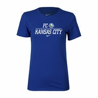 Women's Nike FC Kansas City Split Tee - Game Royal