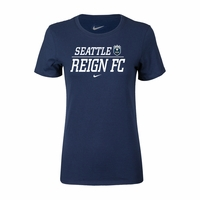 Women's Nike Seattle Reign FC Split Tee - Navy