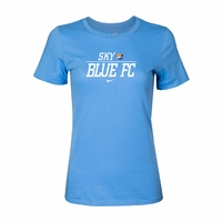 Women's Nike Sky Blue FC Split Tee - Light Blue