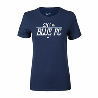 Women's Nike Sky Blue FC Split Tee - Navy