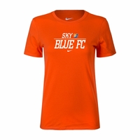 Women's Nike Sky Blue FC Split Tee - Orange